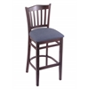"Holland Bar Stool Co. 3120  25"" Stool with Dark Cherry Finish, Rein Bay Seat"