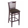 "3120 25"" Stool with Dark Cherry Finish, Rein Coffee Seat"