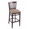 "3120 25"" Stool with Dark Cherry Finish, Rein Thatch Seat"