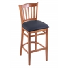 "Holland Bar Stool Co. 3120  25"" Stool with Medium Finish, Allante Dark Blue Seat"