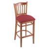 "Holland Bar Stool Co. 3120  25"" Stool with Medium Finish, Allante Wine Seat"