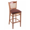 "Holland Bar Stool Co. 3120  25"" Stool with Medium Finish, Axis Paprika Seat"