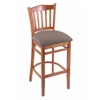 "Holland Bar Stool Co. 3120  25"" Stool with Medium Finish, Axis Truffle Seat"