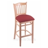 "3120 25"" Stool with Natural Finish, Allante Wine Seat"