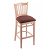 "Holland Bar Stool Co. 3120  25"" Stool with Natural Finish, Axis Paprika Seat"
