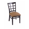 "3130 18"" Chair with Black Finish, Allante Beechwood Seat"