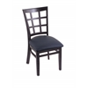 "3130 18"" Chair with Black Finish, Allante Dark Blue Seat"