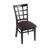 "Holland Bar Stool Co. 3130  18"" Chair with Black Finish, Allante Espresso Seat"