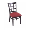 "Holland Bar Stool Co. 3130  18"" Chair with Black Finish, Allante Wine Seat"