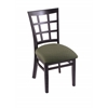 "Holland Bar Stool Co. 3130  18"" Chair with Black Finish, Axis Grove Seat"