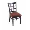 "Holland Bar Stool Co. 3130  18"" Chair with Black Finish, Axis Paprika Seat"