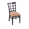 "Holland Bar Stool Co. 3130  18"" Chair with Black Finish, Axis Summer Seat"