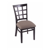 "Holland Bar Stool Co. 3130  18"" Chair with Black Finish, Axis Truffle Seat"