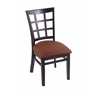 "Holland Bar Stool Co. 3130  18"" Chair with Black Finish, Rein Adobe Seat"