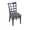 "Holland Bar Stool Co. 3130  18"" Chair with Black Finish, Rein Bay Seat"