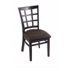 "Holland Bar Stool Co. 3130  18"" Chair with Black Finish, Rein Coffee Seat"