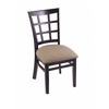 "Holland Bar Stool Co. 3130  18"" Chair with Black Finish, Rein Thatch Seat"
