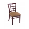 "3130 18"" Chair with Dark Cherry Finish, Allante Beechwood Seat"
