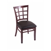 "3130 18"" Chair with Dark Cherry Finish, Allante Espresso Seat"