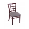 "3130 18"" Chair with Dark Cherry Finish, Allante Medium Grey Seat"