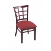 "Holland Bar Stool Co. 3130  18"" Chair with Dark Cherry Finish, Allante Wine Seat"