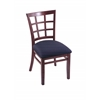 "Holland Bar Stool Co. 3130  18"" Chair with Dark Cherry Finish, Axis Denim Seat"