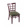 "Holland Bar Stool Co. 3130  18"" Chair with Dark Cherry Finish, Axis Grove Seat"