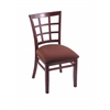 "3130 18"" Chair with Dark Cherry Finish, Axis Paprika Seat"