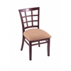 "Holland Bar Stool Co. 3130  18"" Chair with Dark Cherry Finish, Axis Summer Seat"
