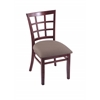 "3130 18"" Chair with Dark Cherry Finish, Axis Truffle Seat"