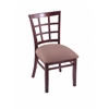 "Holland Bar Stool Co. 3130  18"" Chair with Dark Cherry Finish, Axis Willow Seat"
