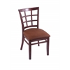 "Holland Bar Stool Co. 3130  18"" Chair with Dark Cherry Finish, Rein Adobe Seat"