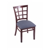 "Holland Bar Stool Co. 3130  18"" Chair with Dark Cherry Finish, Rein Bay Seat"