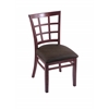 "3130 18"" Chair with Dark Cherry Finish, Rein Coffee Seat"