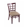 "Holland Bar Stool Co. 3130  18"" Chair with Dark Cherry Finish, Rein Thatch Seat"