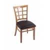 "Holland Bar Stool Co. 3130  18"" Chair with Medium Finish, Allante Espresso Seat"
