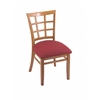 "Holland Bar Stool Co. 3130  18"" Chair with Medium Finish, Allante Wine Seat"