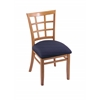 "3130 18"" Chair with Medium Finish, Axis Denim Seat"
