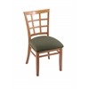 "3130 18"" Chair with Medium Finish, Axis Grove Seat"