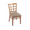 "Holland Bar Stool Co. 3130  18"" Chair with Medium Finish, Rein Thatch Seat"
