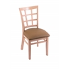 "3130 18"" Chair with Natural Finish, Allante Beechwood Seat"