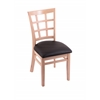 "3130 18"" Chair with Natural Finish, Allante Espresso Seat"