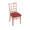 "3130 18"" Chair with Natural Finish, Allante Wine Seat"