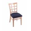 "3130 18"" Chair with Natural Finish, Axis Denim Seat"