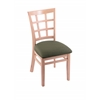 "3130 18"" Chair with Natural Finish, Axis Grove Seat"