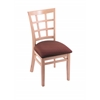 "3130 18"" Chair with Natural Finish, Axis Paprika Seat"