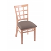 "3130 18"" Chair with Natural Finish, Axis Truffle Seat"