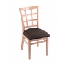 "3130 18"" Chair with Natural Finish, Rein Coffee Seat"