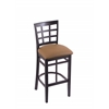"Holland Bar Stool Co. 3130  25"" Stool with Black Finish, Allante Beechwood Seat"