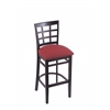 "Holland Bar Stool Co. 3130  25"" Stool with Black Finish, Allante Wine Seat"